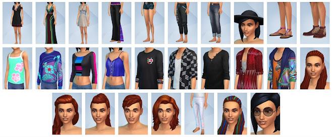 De Sims 4 Filmavond Accessoires nieuwe CAS-items