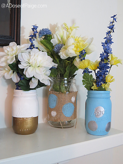 DIY Spring Mason Jar Vases by A Dose of Paige