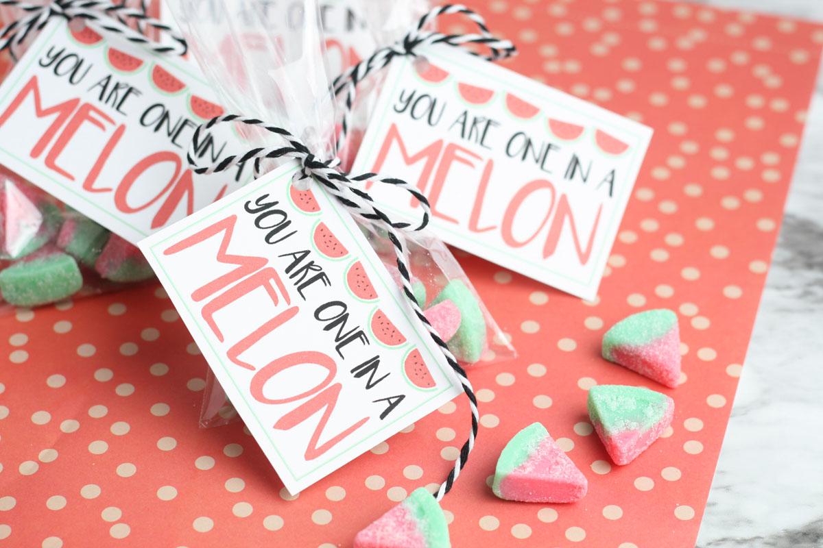 Melon candy valentine