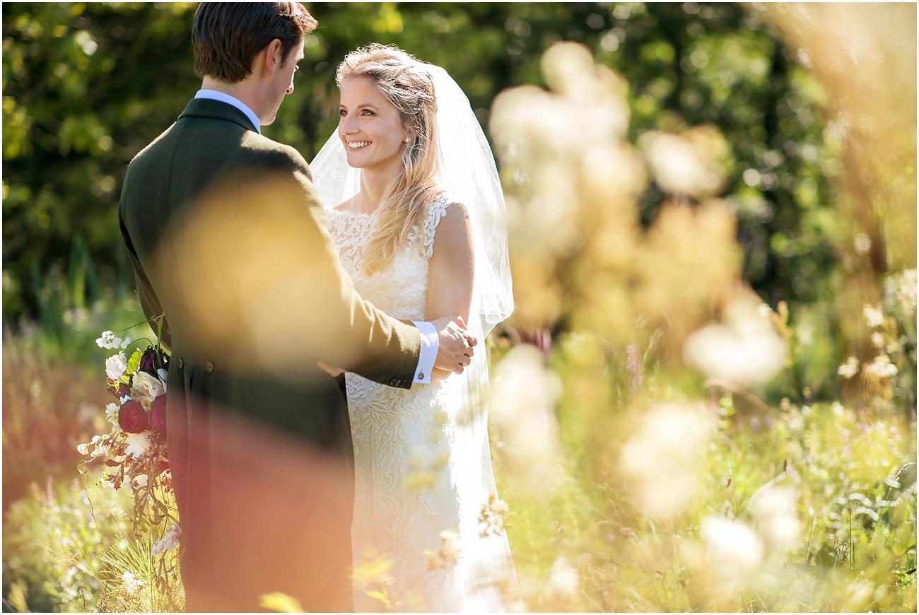 Dorset country wedding portrait
