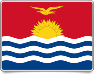 I-Kiribati framed flag icons with box shadow