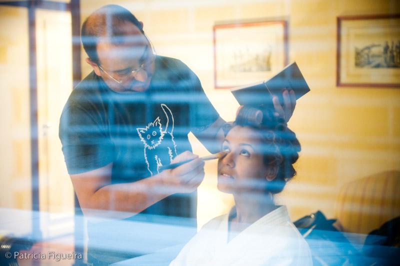 Foto de casamento 0023 de Luciene e Rodrigo. Marcações: 11/09/2009, Casamento Luciene e Rodrigo, Fotos de Making of, Making of, Rio de Janeiro.
