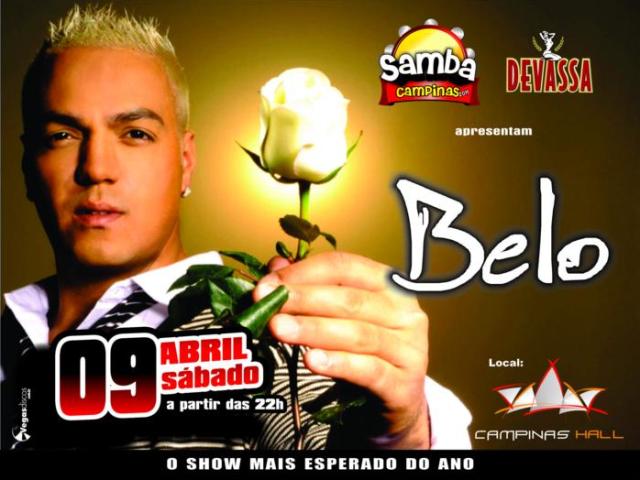 edb74414d9545 No dia 09 de abril, sábado, o cantor Belo se apresenta na casa de shows  Campinas Hall em Campinas.
