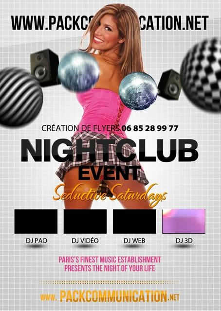 création flyer soirée thème Night Club Event