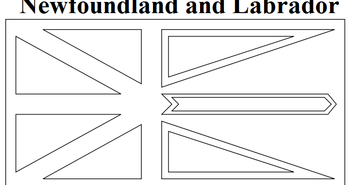 Geography Blog Newfoundland And Labrador Flag Coloring Page