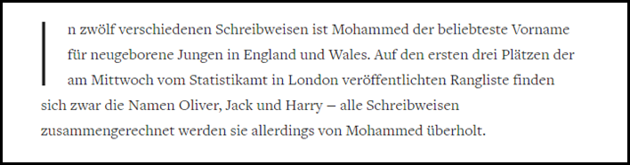 Mohammeds in England
