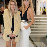 WWW.ENTSIMAGES.COM -   Olivia Cox and Kimberley Garner    at   Julio Larraz - Rules of Engagement - private view at Contini Art UK, London October 2nd 2014Private view of exhibition devoted to the paintings by Cuban born artist Julio Larraz, his first major solo exhibition in London, featuring paintings, sculptures and caricatures.                                                Photo Mobis Photos/OIC 0203 174 1069