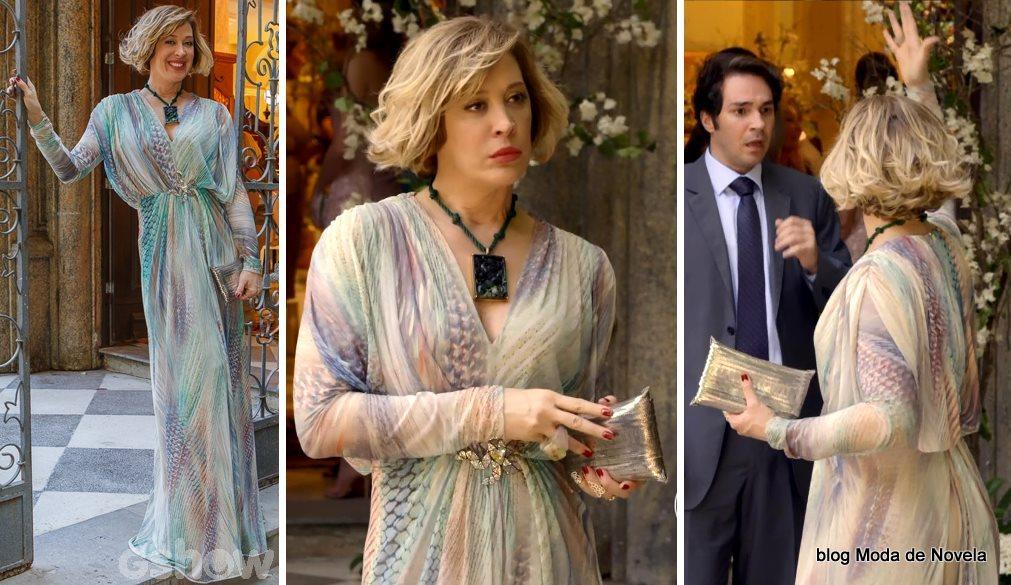 moda da novela Alto Astral, look da Samantha no casamento da Laura