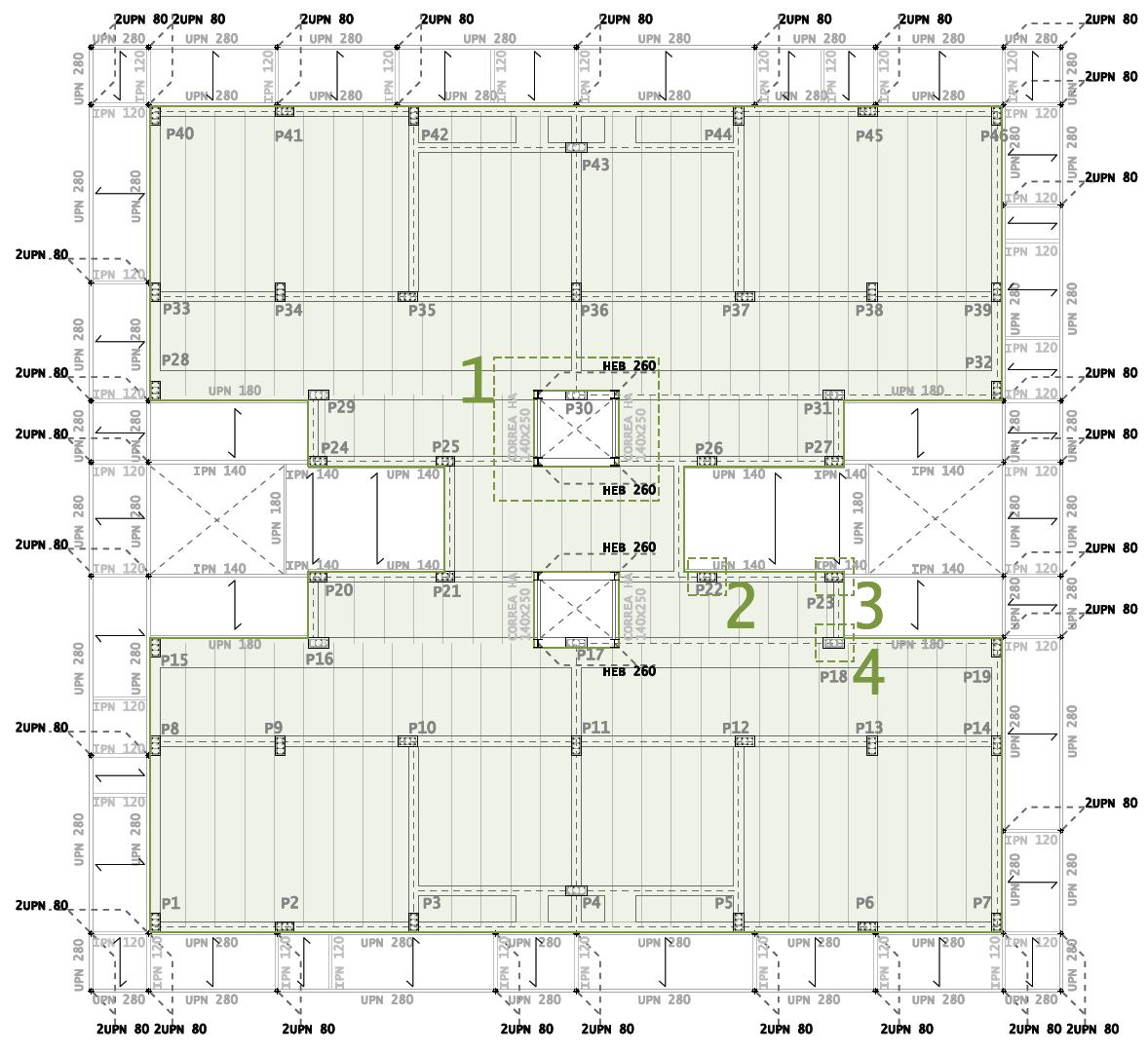 El portfolio de paula sexta entrada del proyecto fin de for Planos de estructuras