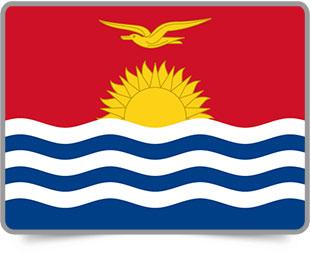 I-Kiribati framed flag icons with box shadow