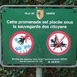 рисунки экологических знаков запрещающих рвать растения Cette promenade est placée sous la sauvegarde des citoyens