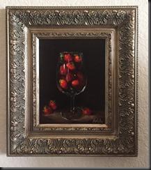 Glass of Strawberries 10x8 framed
