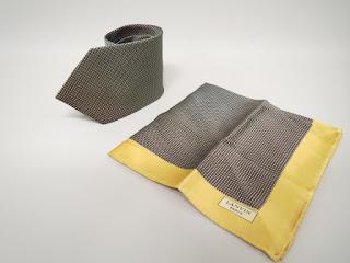 Lanvin Tie and Pocket Square Pair