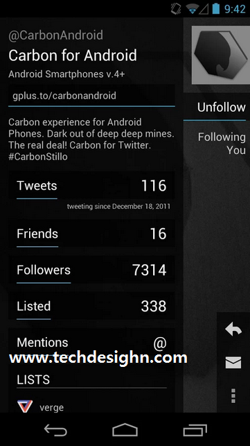 Carbon for Twitter App