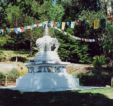 Victory Stupa at Chandrakirti Buddhist Meditation Centre, Nelson, New Zealand.