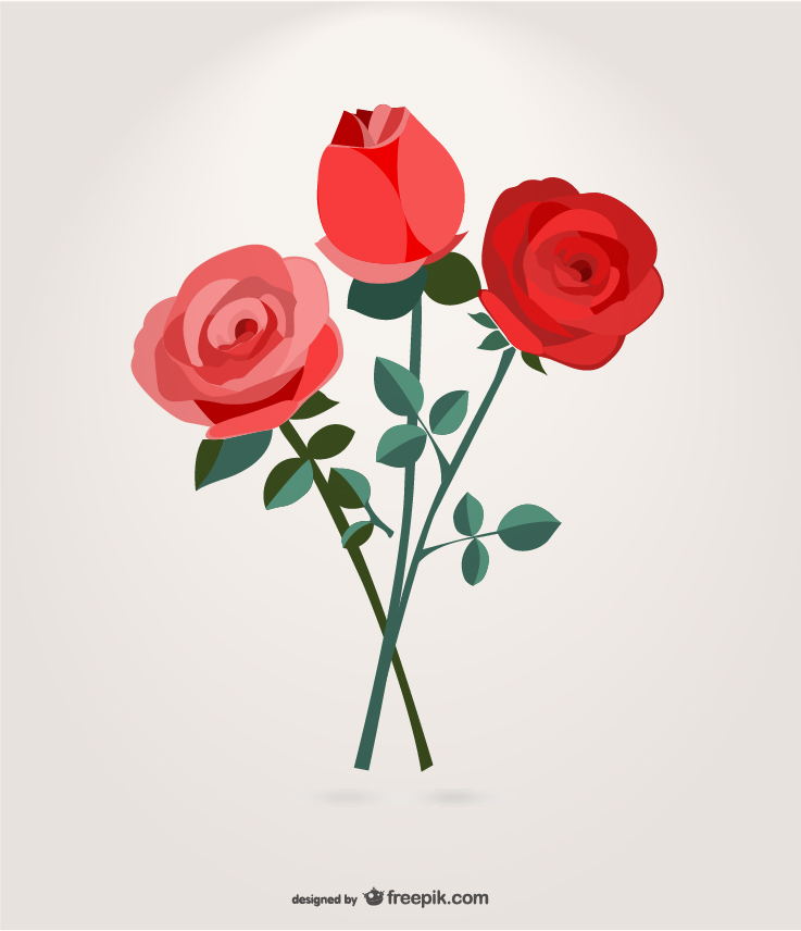Roses Bouquet Graphic Free Download Vector CDR, AI, EPS and PNG Formats