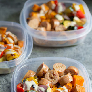 Turkey Sausage & Sweet Potato Lunch Bowls