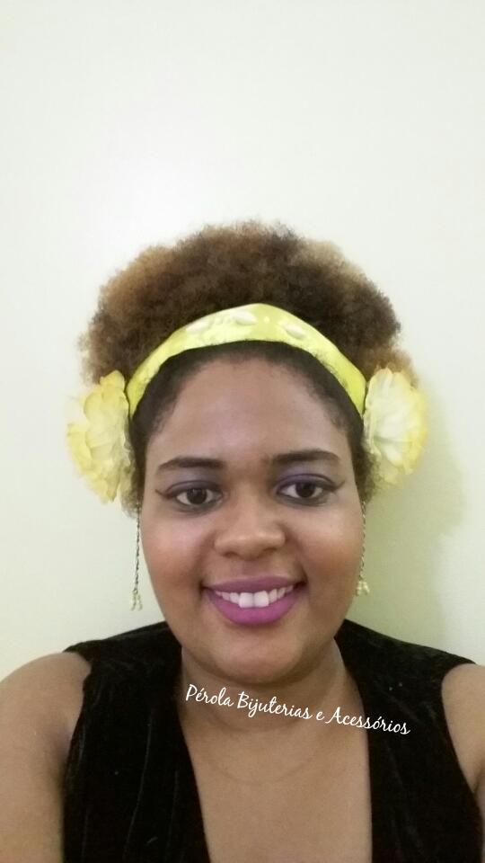 Pérola Bijuterias e Acessórios  Tiara de flores - Headpeacie- Tribal ... 120ef3edefb