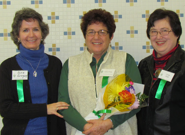 2014 long time volunteers honored. L to R:  Gina Gregory, Linda Kidd and Carol Fink, over 30 years volunteering!