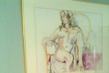 "bedroom with ""I'm Listening"" watercolor.JPG"