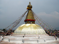 Once the biggest stupa in the world - Bodhnath - Kathmandu Valley