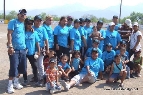 Equipo Chicas Sertoma en el softbol femenil del Club Sertoma