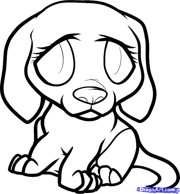 Sad Puppy Cartoon How To Draw Beagle Puppy Beagle Puppy Step    Throughout Coloring