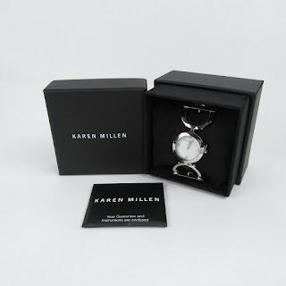 Karen Millen Silver Watch