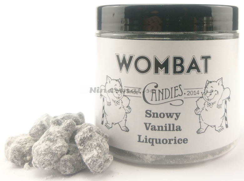 Saltlakrits rullad i vaniljsocker - Wombat Candies