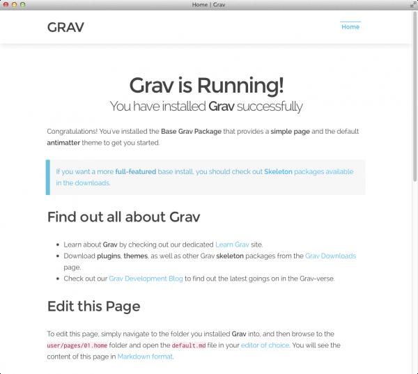 GRAV install