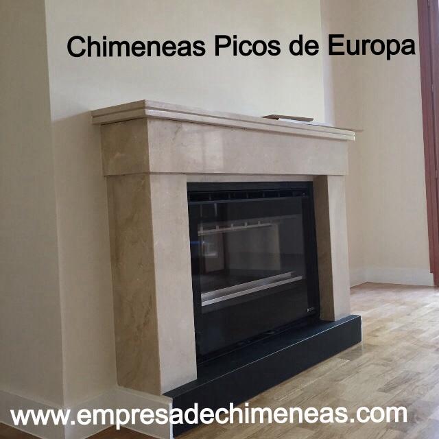Chimeneas picos de europa chimenea de m rmol abierta con for Cassettes para chimeneas