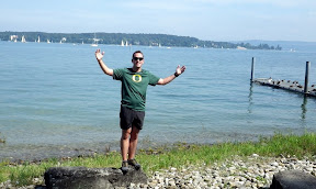 running circles around the Bodensee, how luck can one man get?