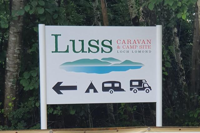Luss Caravan and camping Site, Loch Lomond, Scotland