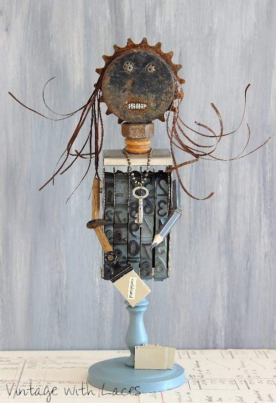 Found Object Mixed Media Sculpture