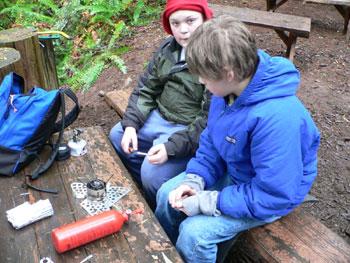 Backpacking stove instruction