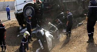 Accident de la région de Boulkroud à Skikda: le bilan s'alourdit à 9 morts et 19 blessés