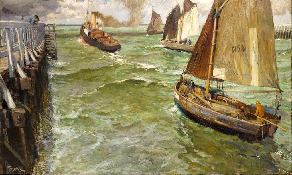 Fernand Toussaint - Sailing in Nieuwpoort, Belgium