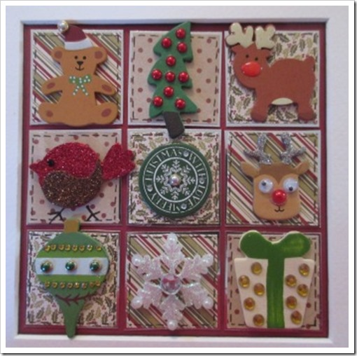 Christmas Patchwork Box Frame q