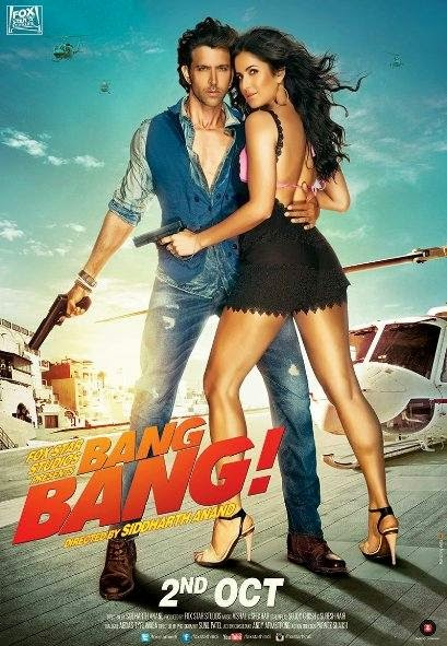 Poster Of Hindi Movie Bang Bang (2014) Free Download Full New Hindi Movie Watch Online At Alldownloads4u.Com