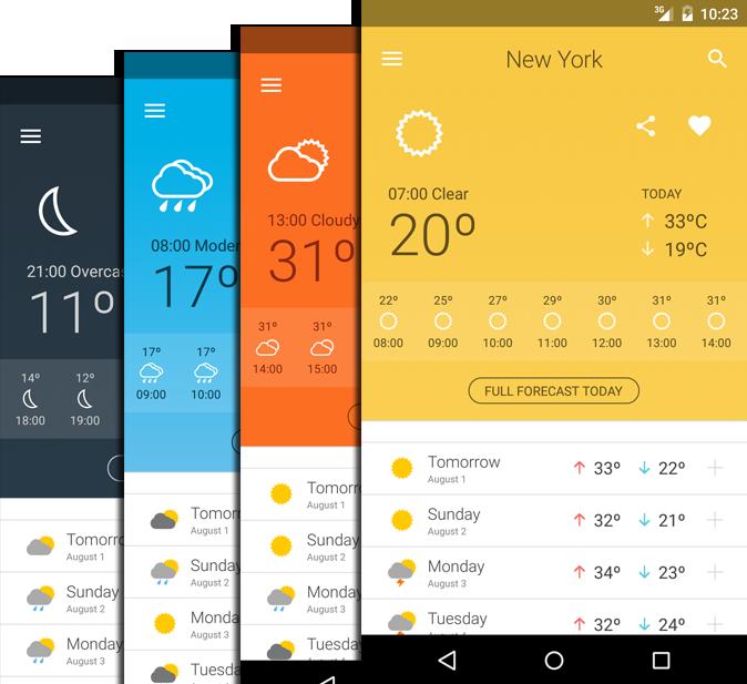Weather 14 days- screenshot