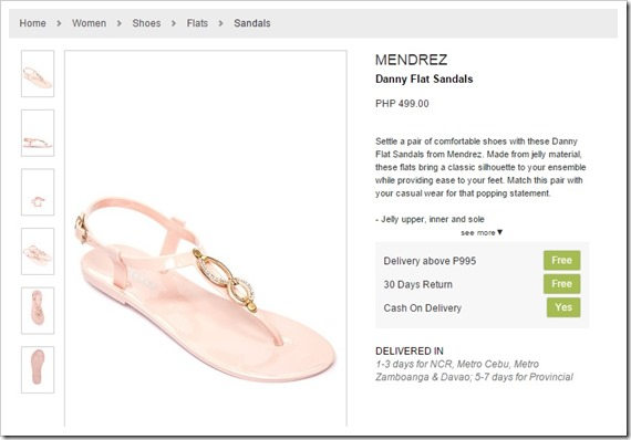 zalora sandals mendrez