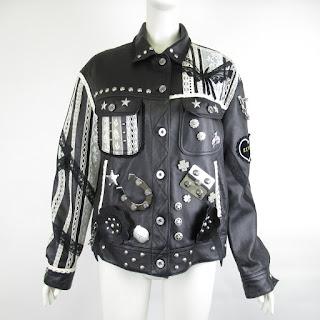 Coach Heavily Embellished Leather Jacket