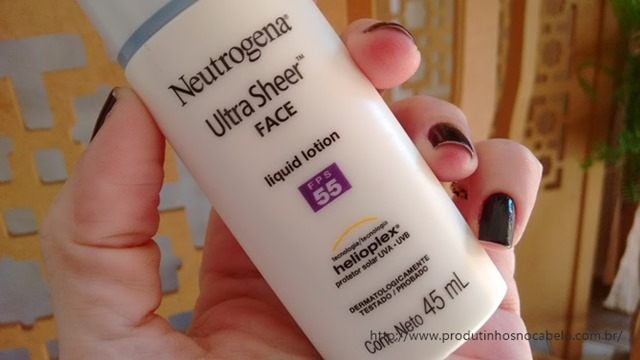 Protetor Neutrogena Ultra Sheer Face