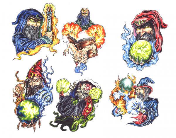 Design Of Magick Tattoo 14, Fantasy Tattoo Designs