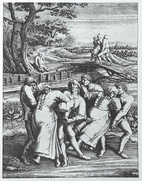 A histeria coletiva levou diversas pessoas a dançarem sem descanso por dias, até que todas caíssem mortas no chão.