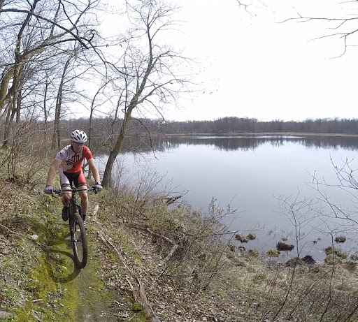 Ben Olson lakeside Twin Lakes singletrack