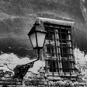 Old window by Alen Zita - Black & White Buildings & Architecture ( tvrđa, old, osijek, black and white, croatia )