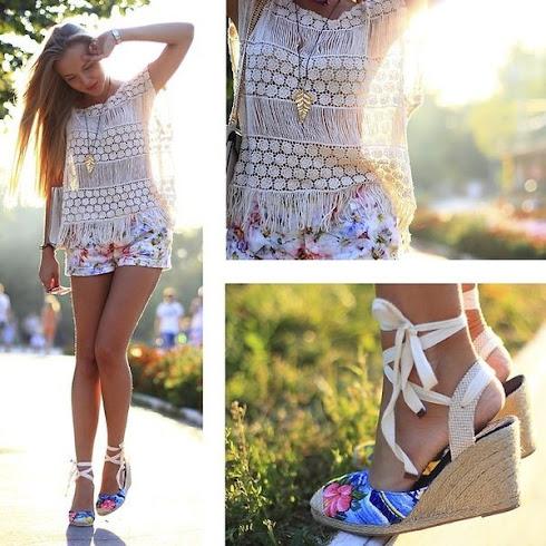 Muôn kiểu giày đế xuồng cho ngày hè rực rỡ
