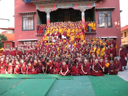 His Holiness the Sakya Trizen after the first year of Wangya Norbu Tangwa initations, in Dheradhun, India 2008