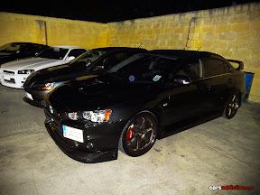 Black Mitsubishi Evo X